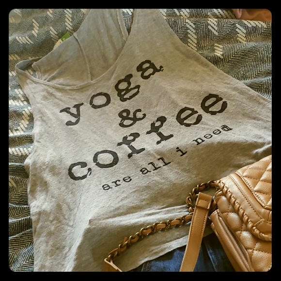 Triumph Tops - Tank top- yoga and coffee are all I need